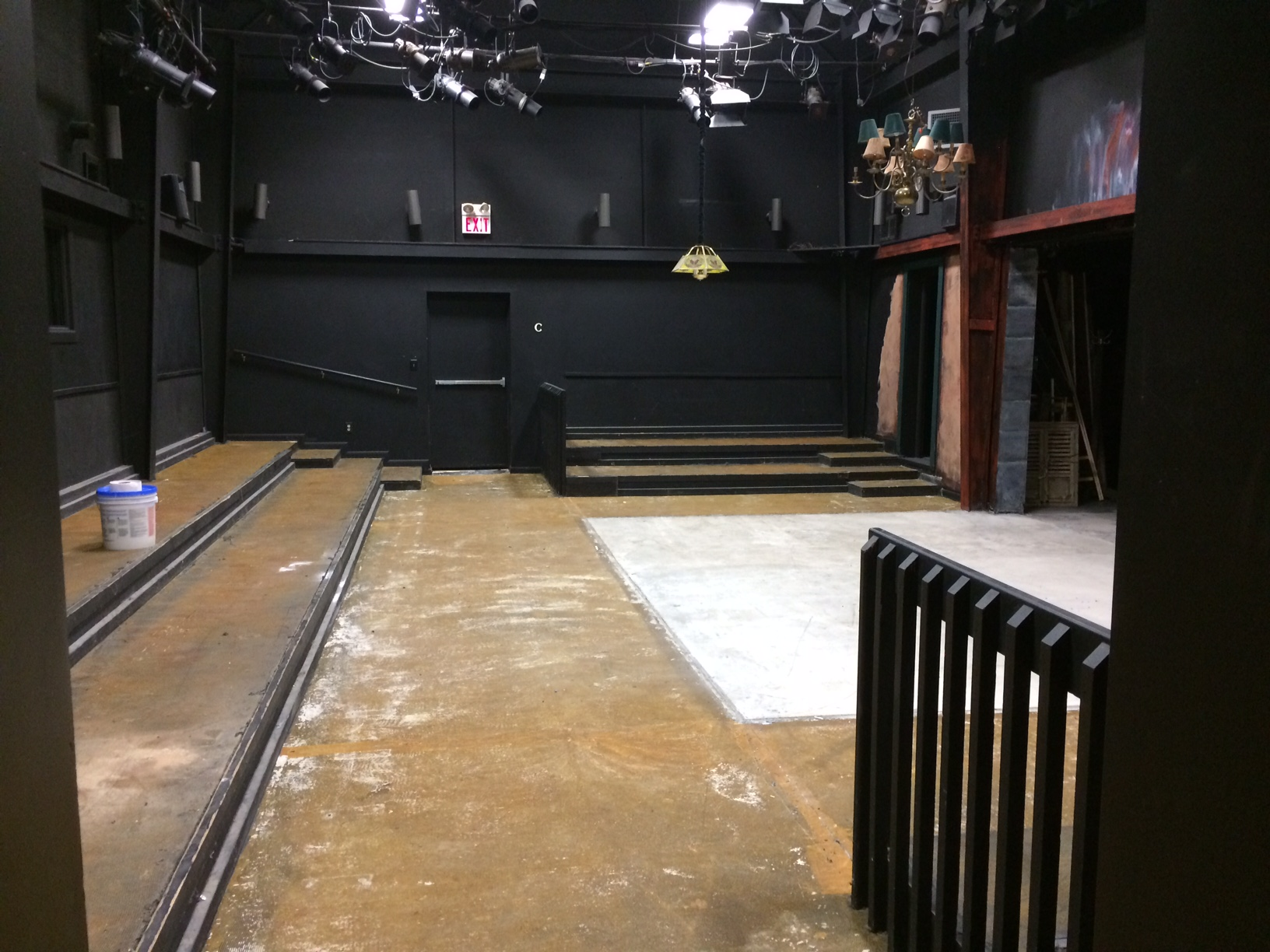 Carpet & Stage Floor Paint removed