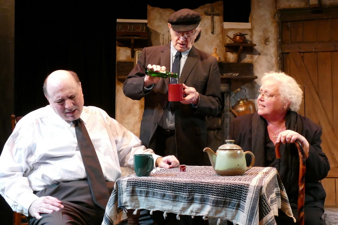 Chris D'Amico as Anthony Reilly,  Ron Newell as Tony Reilly and Rose A. Leininger as Aoife Muldoon
