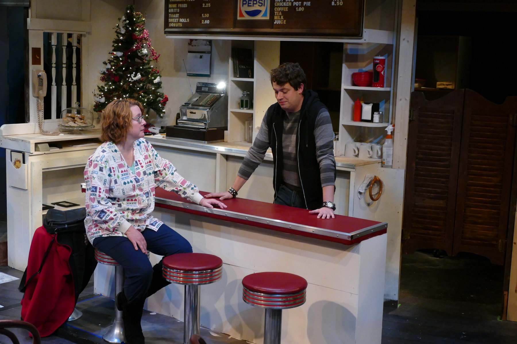 Lisa L Wiley as Kate Myers and Kyle Adam as Ryan Banks