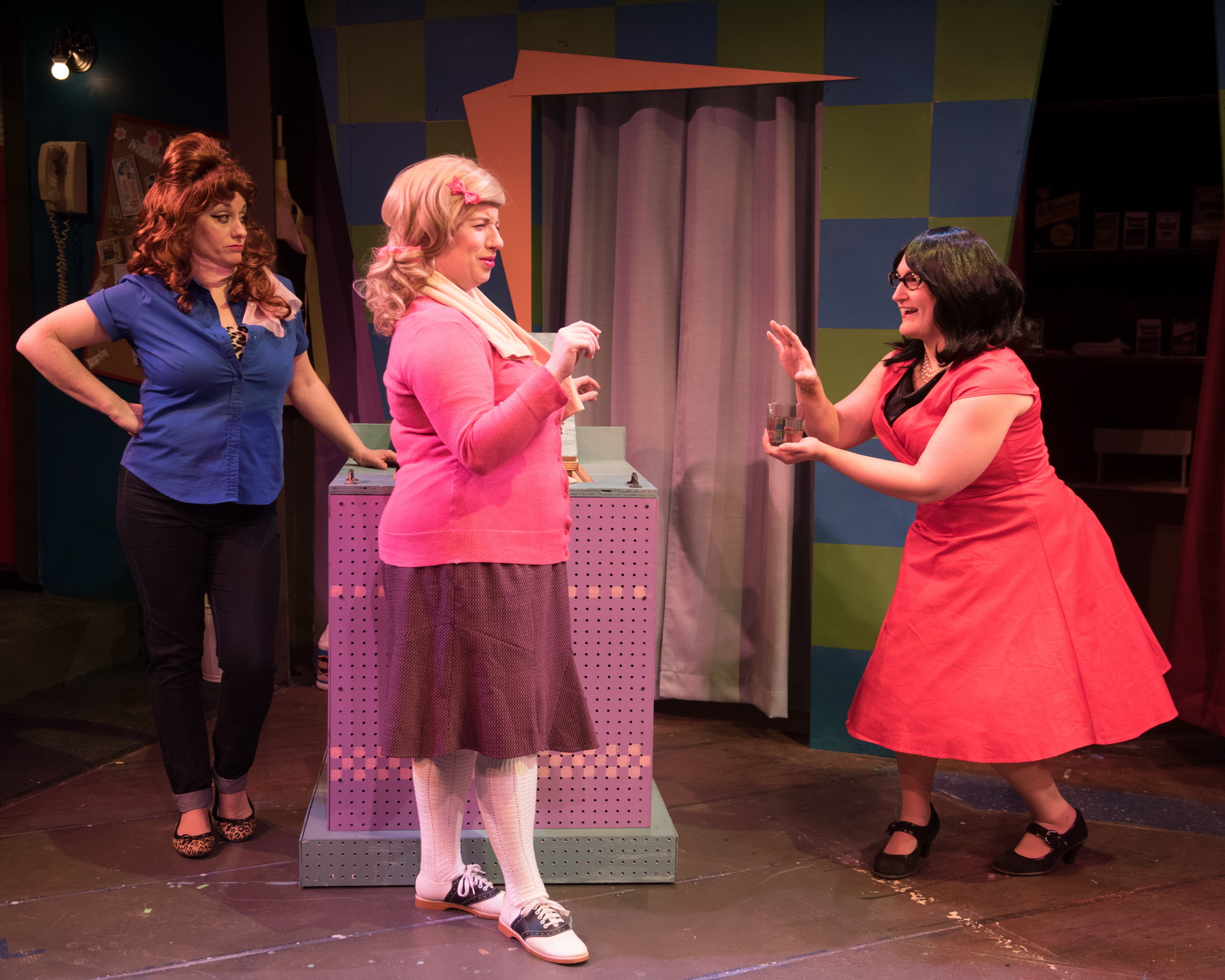 Eileen Canepari as Marge, Ellie St. Cyr as Cindy, and Kate Klotzbach as Dee Dee