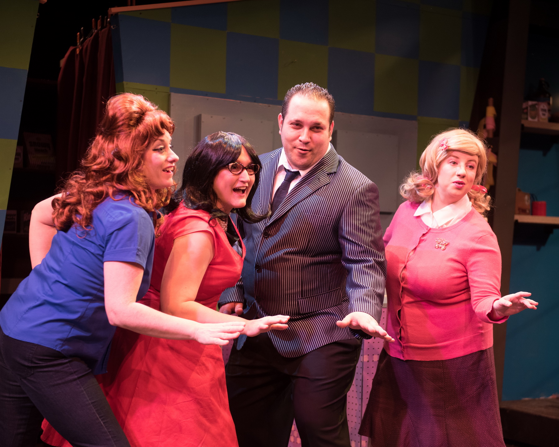 Eileen Canepari as Marge, Kate Klotzbach as Dee Dee, Matt Cuffari as Johnny Angel and Ellie St. Cyr as Cindy