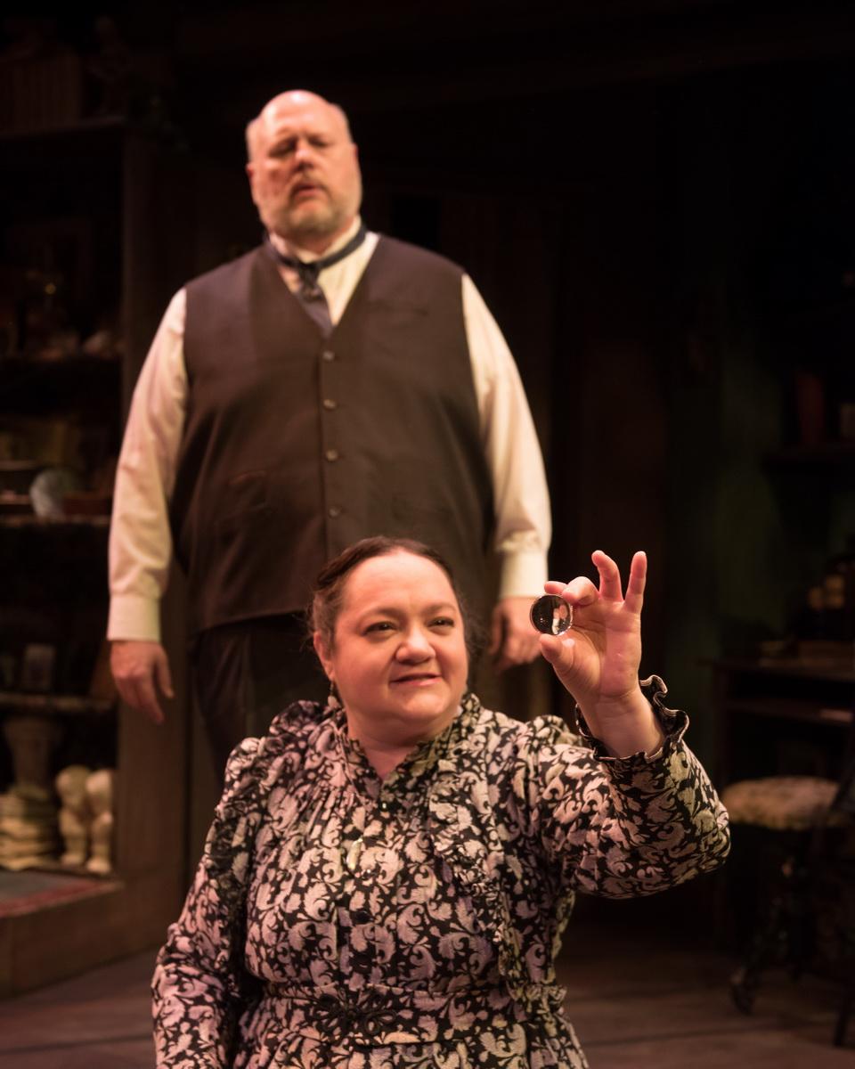 Chuck Cover as William H. Mumler  & Elaine Feagler as Mrs. Mumler