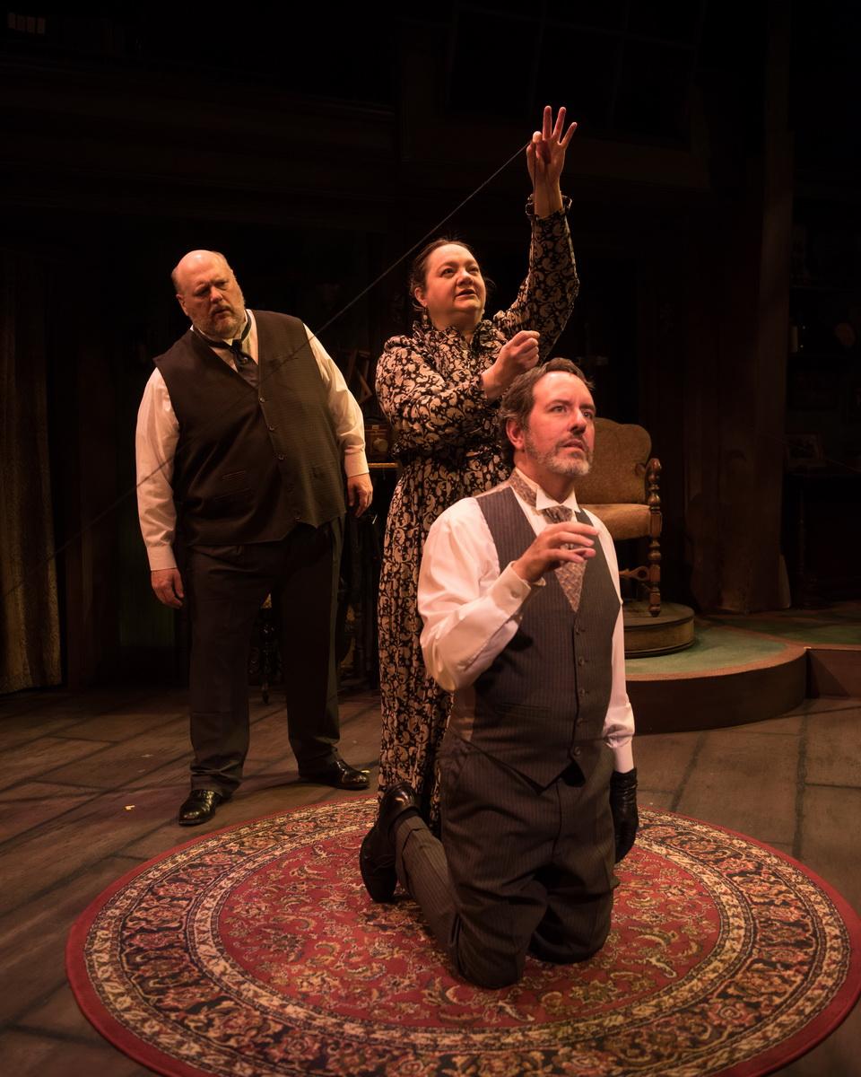 """The Cast of """"Summerland"""" -Chuck Cover as William H. Mumler, Elaine Feagler as Mrs. Mumler & Dan Sekanic as Joseph Tooker"""