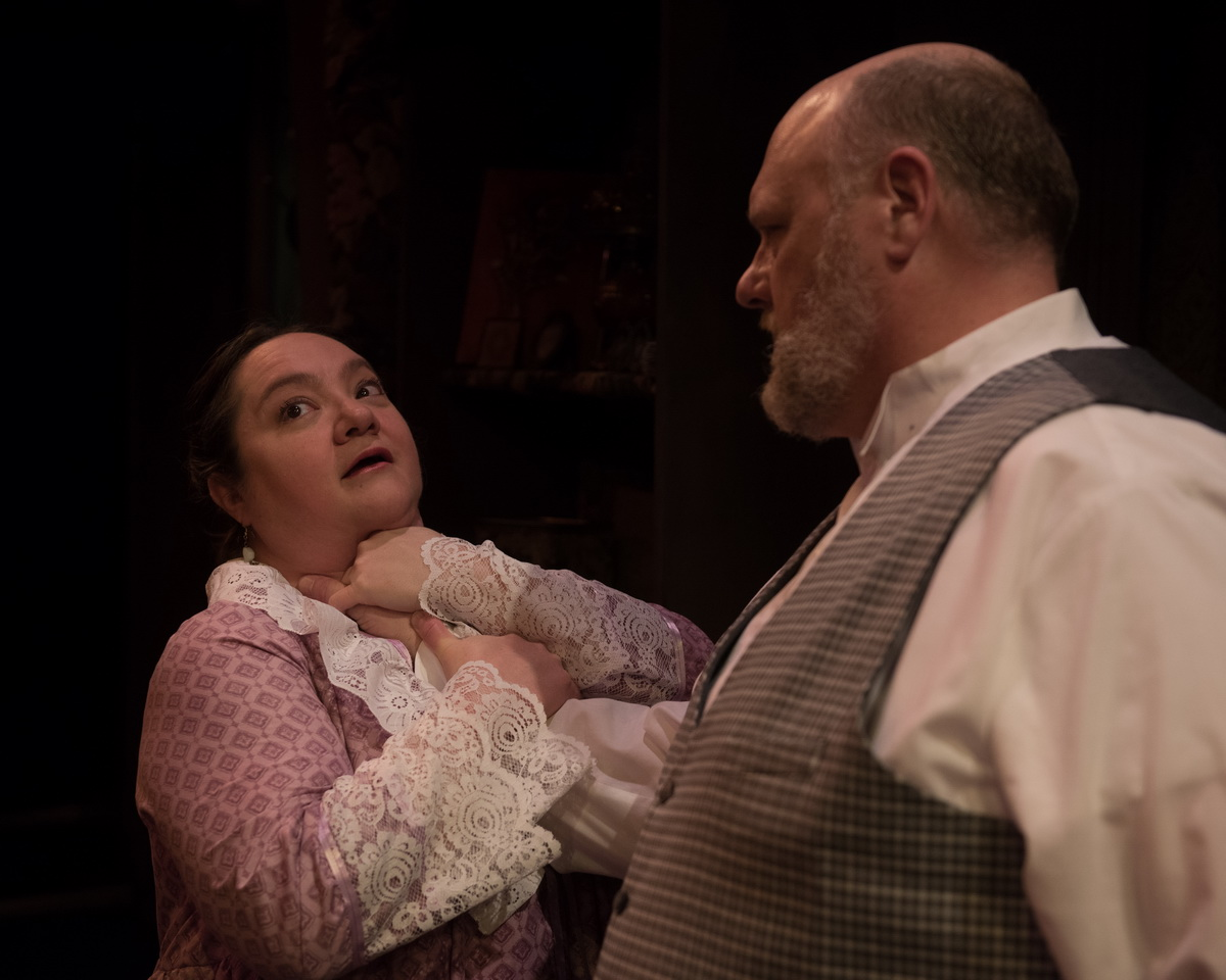 Elaine Feagler as Mrs. Mumler & Chuck Cover as William H. Mumler