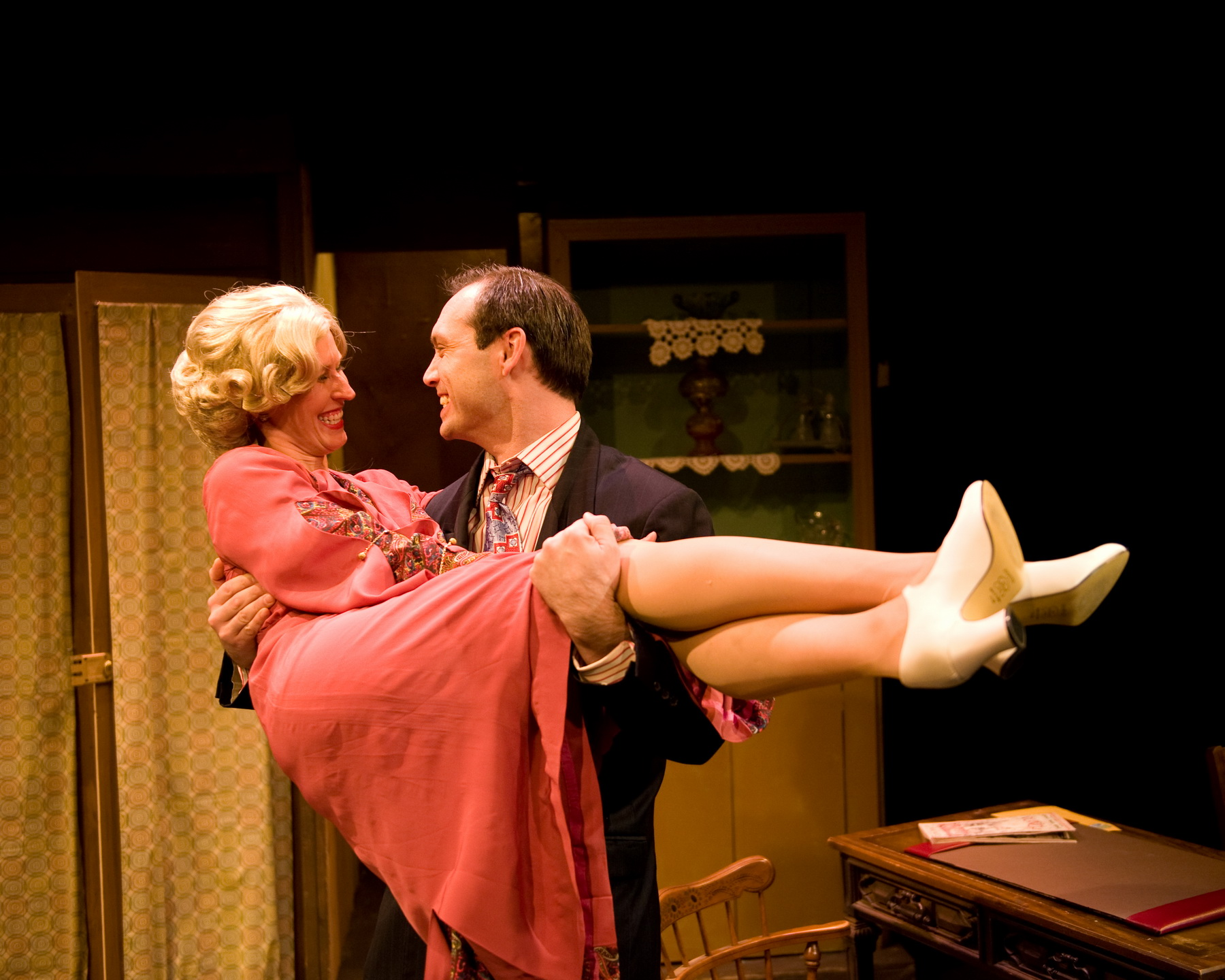 Jill Kenderes as Cecily Harrington and Jarred Nichols as Bruce Lovell