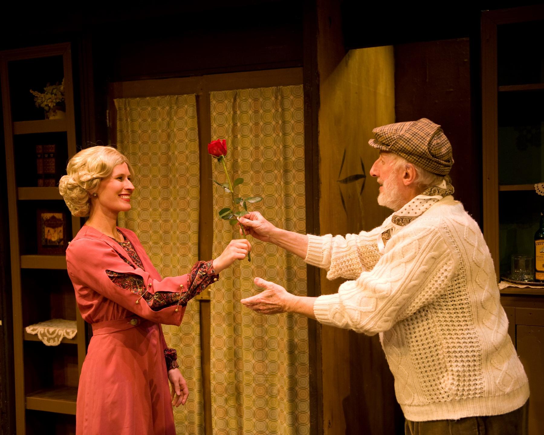 Jill Kenderes as Cecily Harrington and Raymond E. Cosma, Jr. as Hodgson