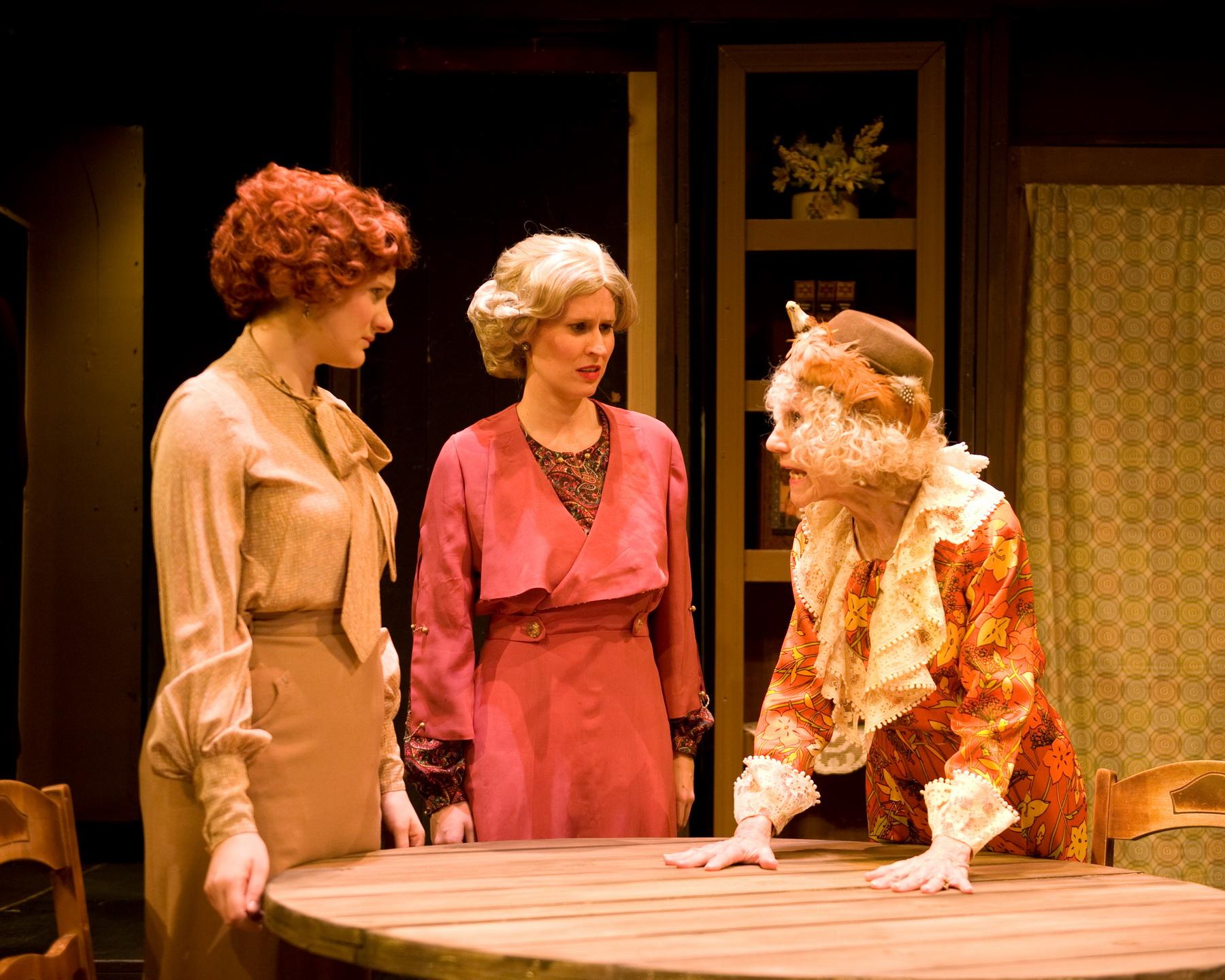Monica Zach as Mavis Wilson, Jill Kenderes as Cecily Harrington and Marcia Mandell as Louise Garrard (Aunt Lou Lou)