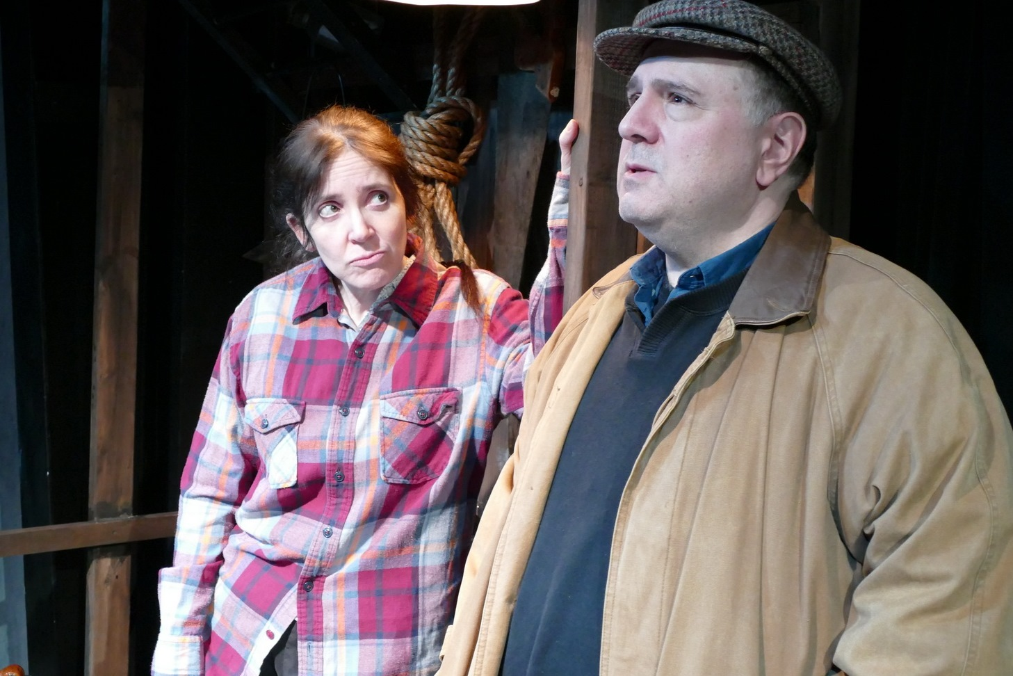 Cat R. Kenney as Rosemary Muldoon and Chris D'Amico as Anthony Reilly