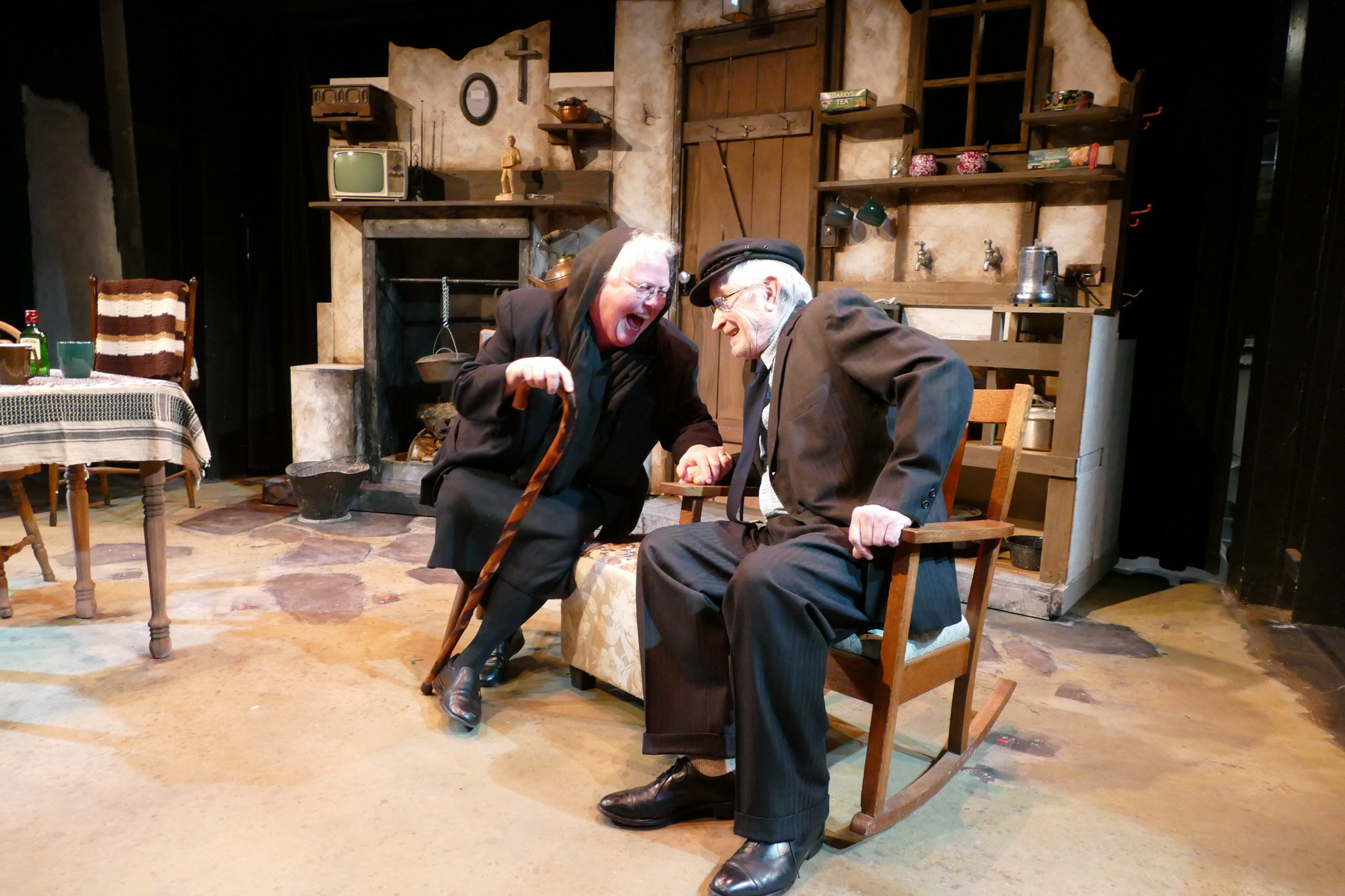 Rose A. Leininger as Aoife Muldoon and Ron Newell as Tony Reilly