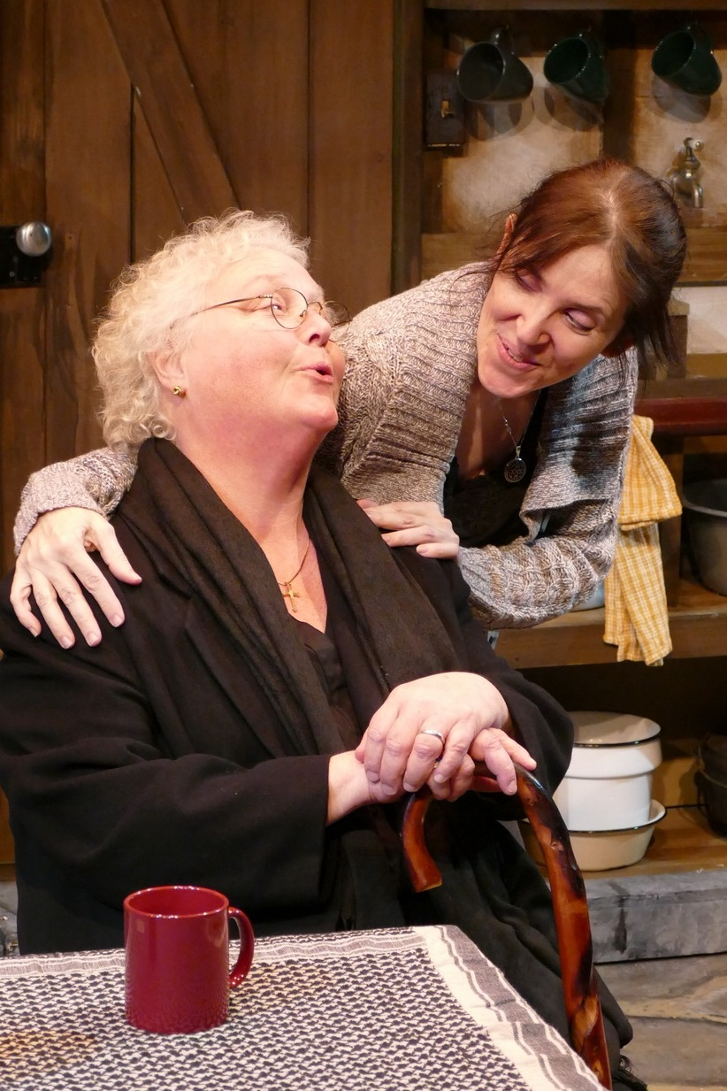 Rose A. Leininger as Aoife Muldoon and Cat R. Kenney as Rosemary Muldoon
