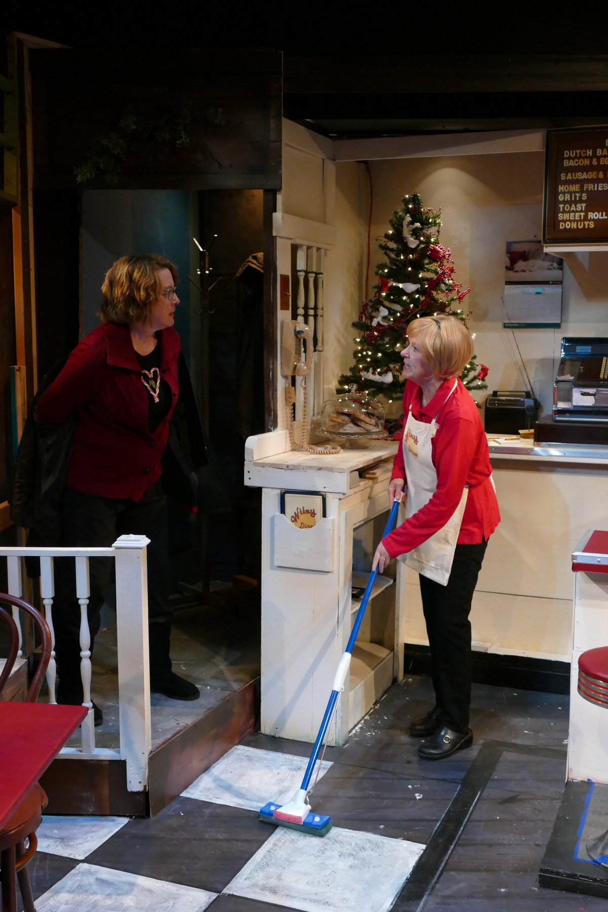 Lisa L Wiley as Kate Myers and Anne McEvoy as Sheila Banks