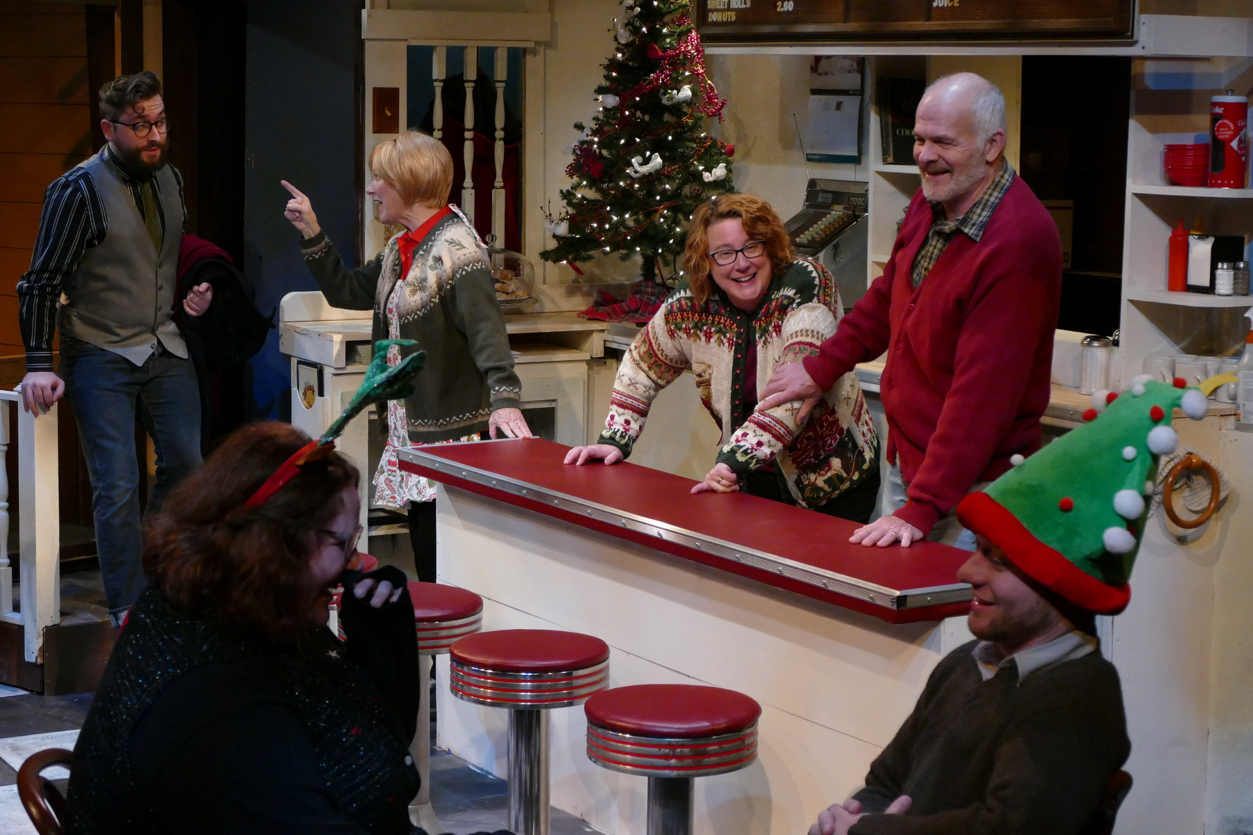 """Cast of """"Christmas at the Wiley Diner"""""""