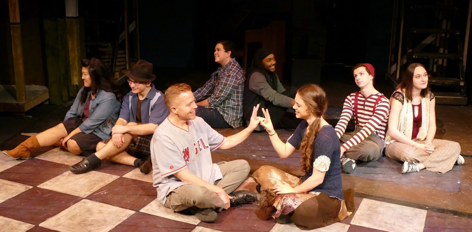 front:  Rick Dawson, Kiara Durbin middle: Michelle Cha, Noah Furin, Michael Stolar, Kara Mincik back: Nick Salazar, Isaiah Blue