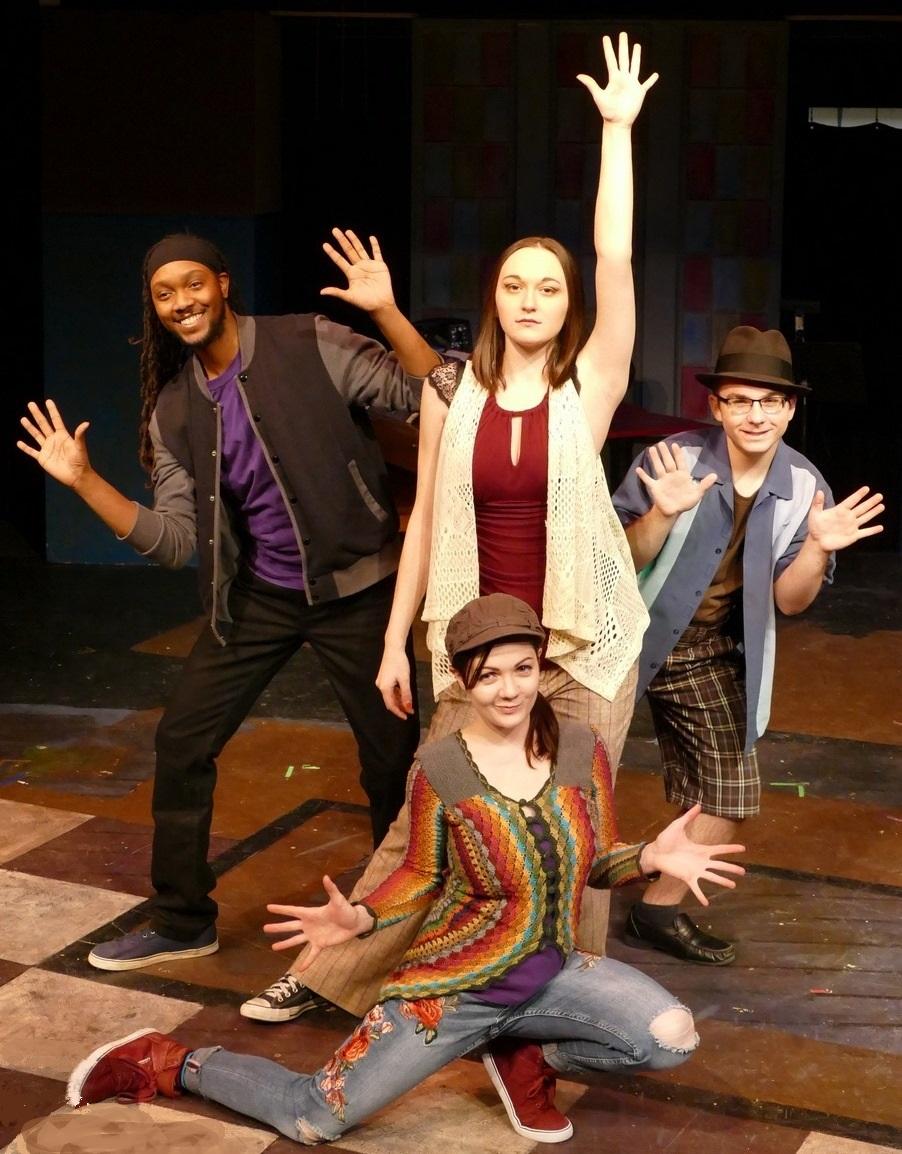front: Amber Revelt back: Isaiah Blue, Kara Mincik, Noah Furin