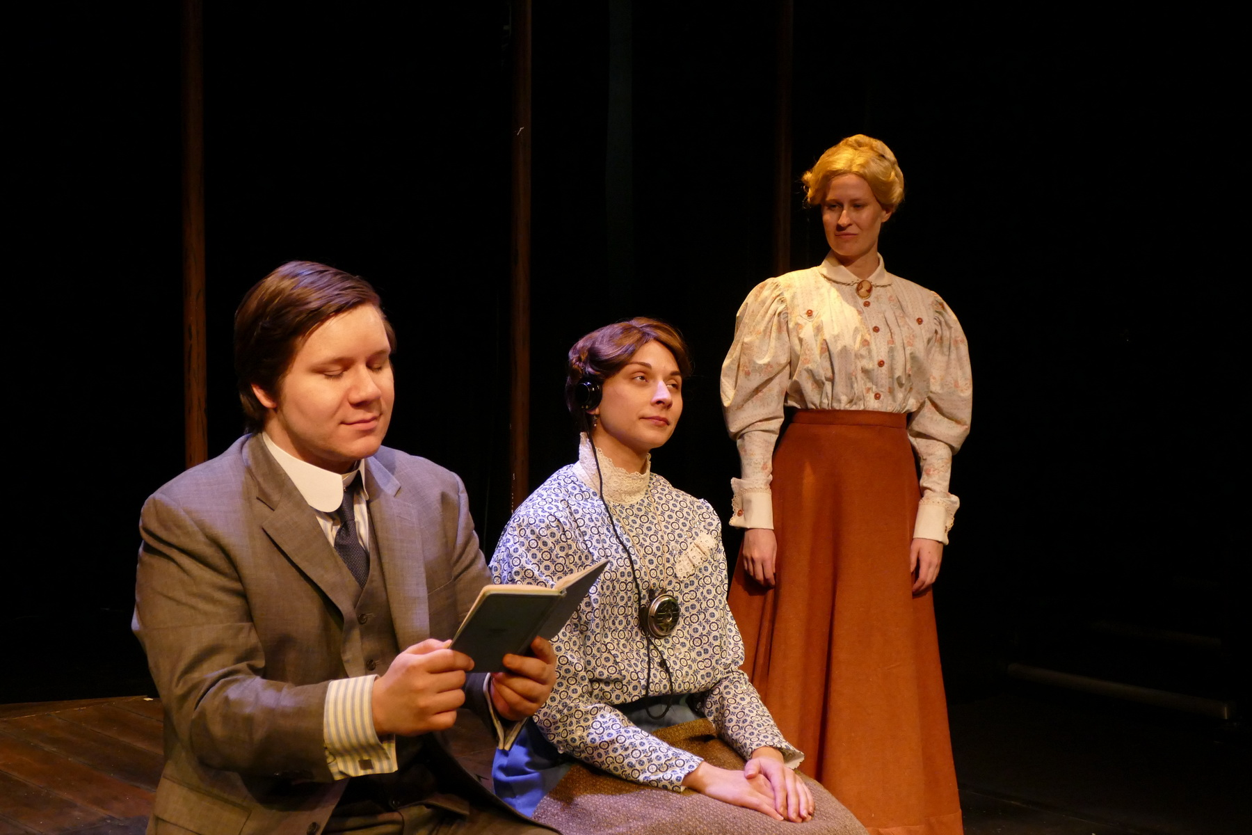 Andrew Keller as Peter Shaw, Brittany Gaul as Henrietta Leavitt and Jill Kenderes as Margaret Leavitt