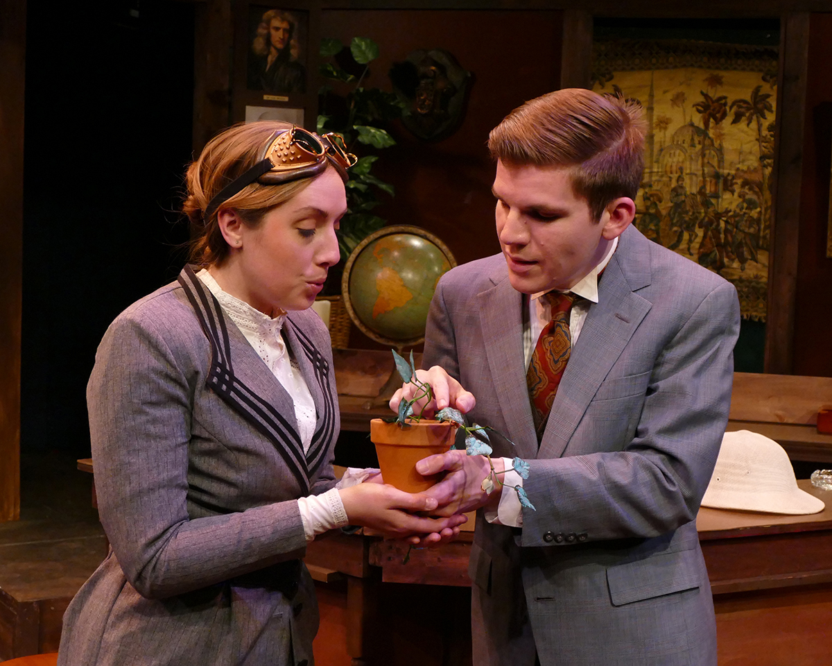 Tiffany Trapnell as Phyllida Spotte-Hume/Countess Glamorgan and Corey Knick as Lucius Fretway