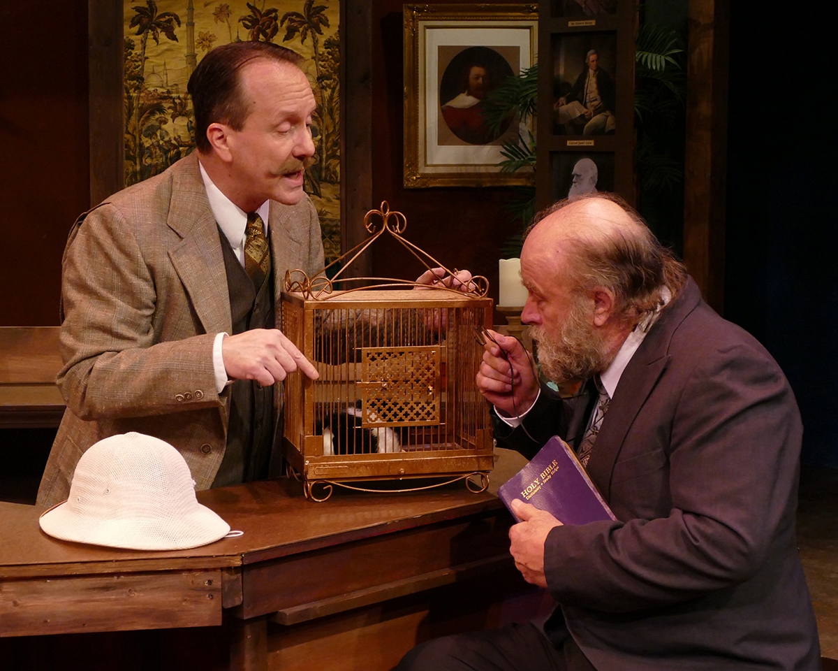 Curt Arnold as Professor Walling and Robert Hawkes as Professor Sloane