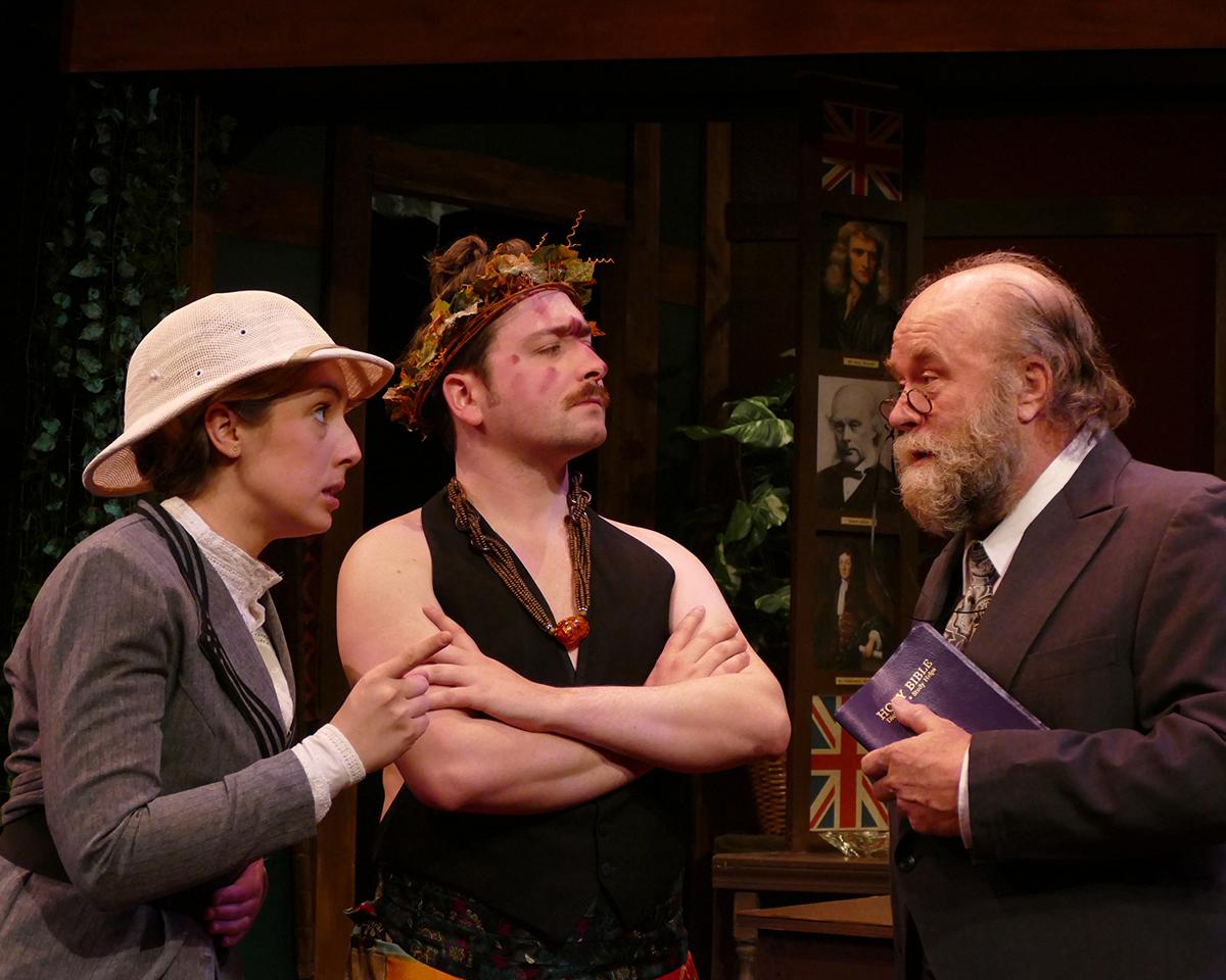 Tiffany Trapnell as Phyllida Spotte-Hume/Countess Glamorgan, Colin P. McCauley as Luigi and Robert Hawkes as Professor Sloane