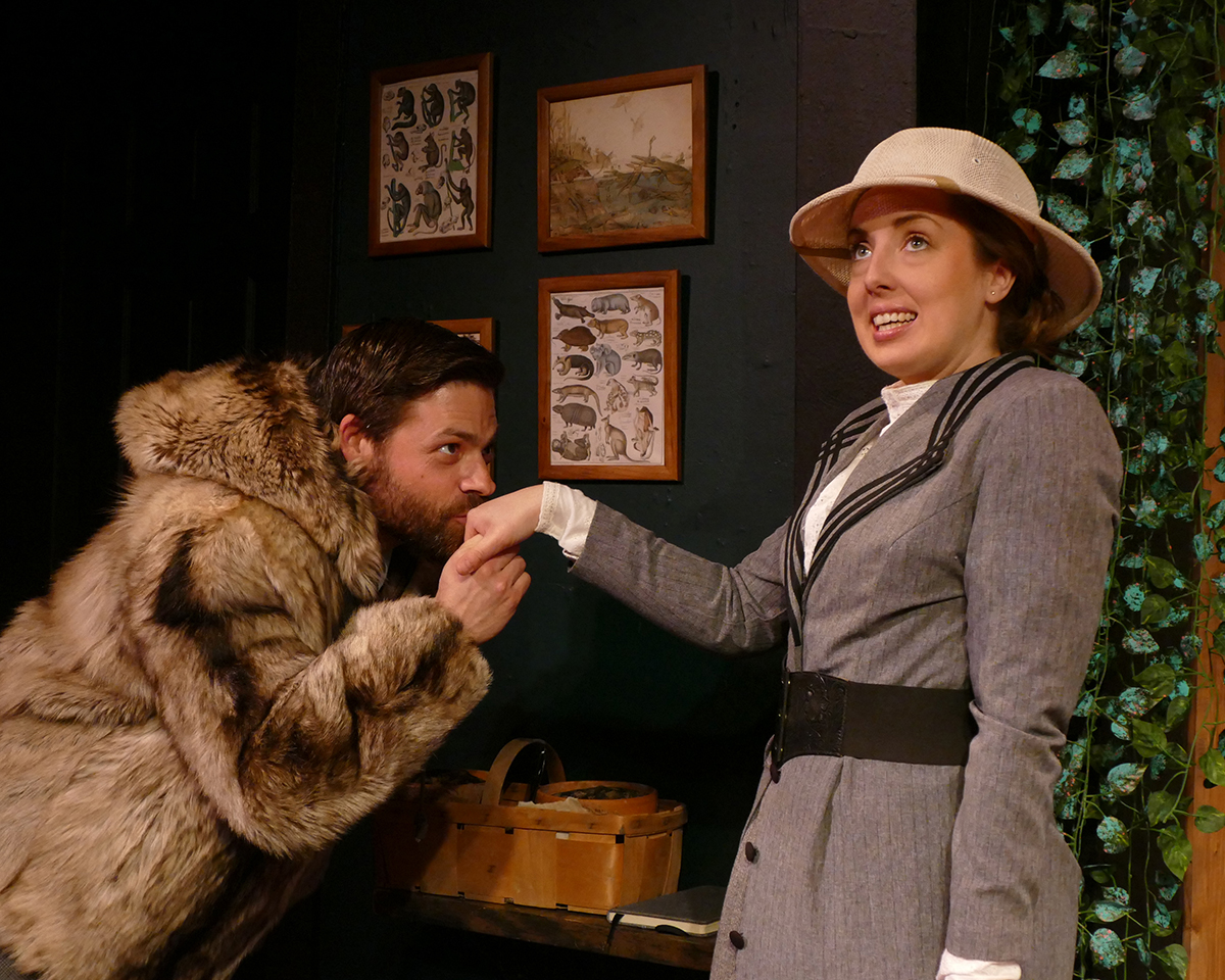 Mark Rabkin as Harry Percy and Tiffany Trapnell as Phyllida Spotte-Hume/Countess Glamorgan
