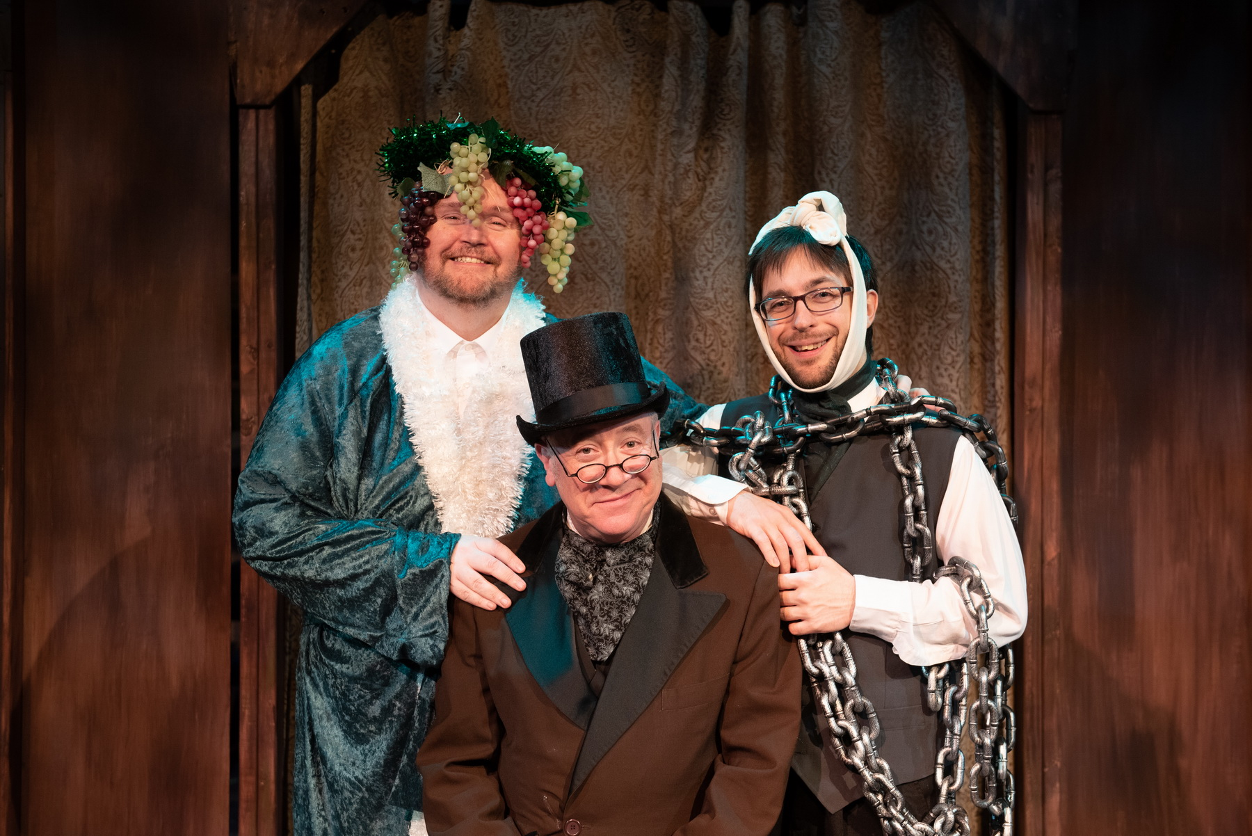 "Don Knepper, Bob Goddard and Mike Frye - Cast of ""Every Christmas Story Every Told (And Then Some!) Nov. 9 - Dec. 9, 2018"