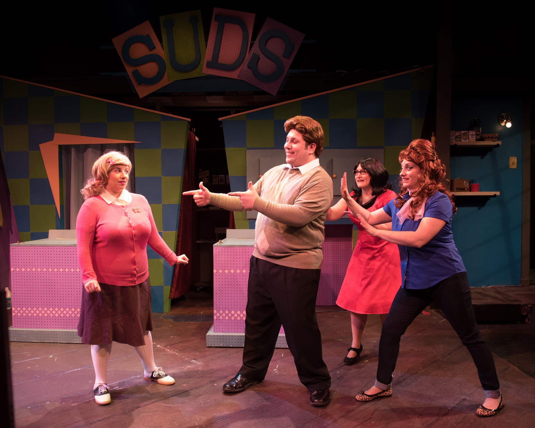 Ellie St. Cyr as Cindy, Matt Cuffari as Mr. Right, Kate Klotzbach as Dee Dee and Eileen Canepari as Marge
