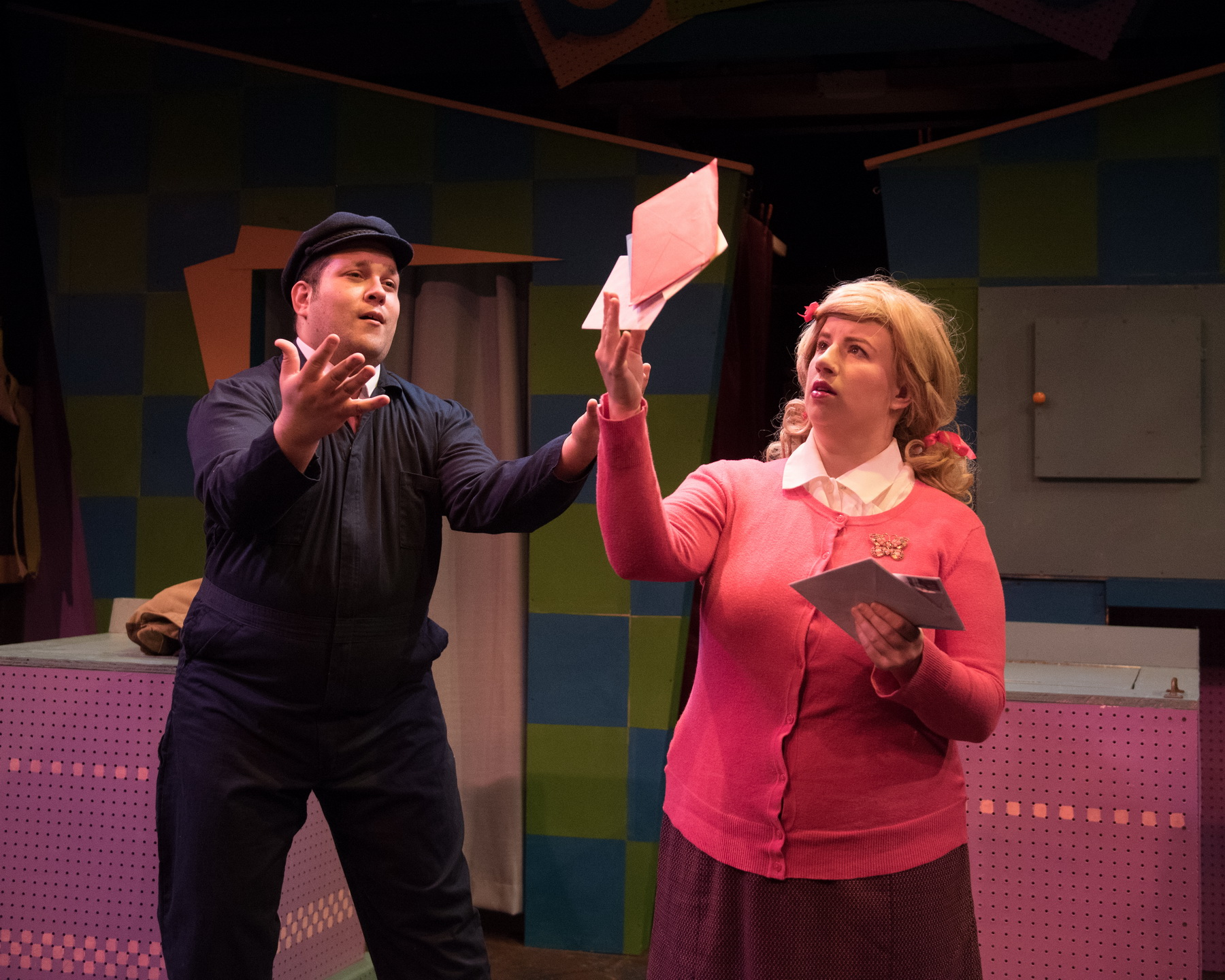Matt Cuffari as Mr. Postman and Ellie St. Cyr as Cindy